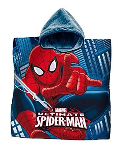 La Bottega del Risparmio Albornoz poncho toalla algodón Spiderman el hombre araña playa niños