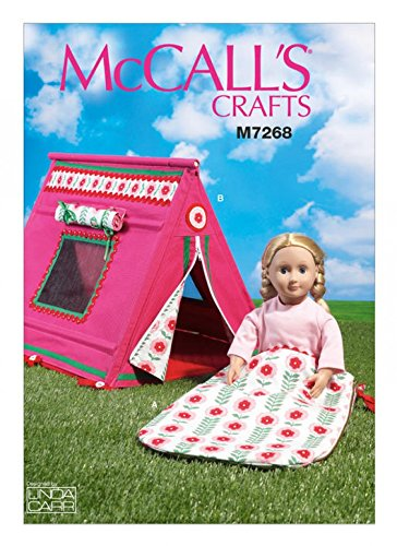 McCall 's Craft Easy Schnittmuster 726845,7cm Puppen Schlafsack & Zelt + Gratis Minerva Crafts Craft Guide