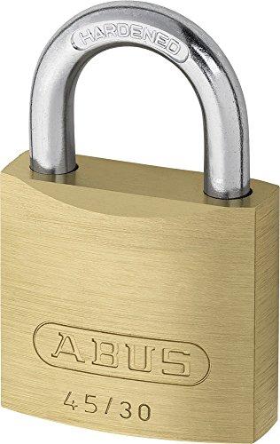 ABUS Vorhängeschloss 45/30 aus Messing - 2er Set - mit Präzisions-Stiftzylinder mit Pilzkopfstiften - 11821 - Level 3 - Messingfarben