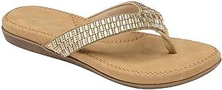 Dunlop Flip Flops Toe Post Slip On Sandals Flat Cushioned