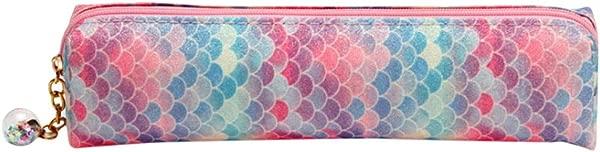 Lomsarsh Pen Bag Laser Sequin Pencil Case Sparkly Glitter Sequins Cosmetic Bag Zipper Handbag Pen Pouch Box