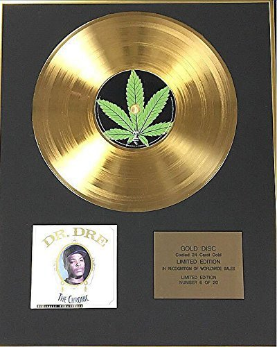 Century Music Awards Dr Dre – Exklusive limitierte Auflage 24 Karat Goldscheibe – The Chronic