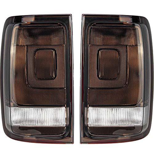 WPFC Rückleuchte Bremssignallampe Rücklicht-Lampe Für VW Amarok Pickup UTE 2010 2011 2012 2013 2014 -UP Mit Circuit Board, 1 Paar,Schwarz