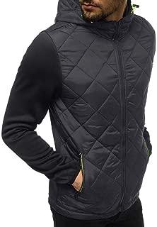 Beautyfine Mens Hooded Sweatshirt Casual Long Sleeve Top Patchwork Pocket Hoodie Tee Outwear Blouse