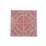 Tovagliette,Sottobicchiere in ceramica con motivo a mandala, cuscinetto isolante termico in sughero a croce quadrata 2 pezzi-colore 13
