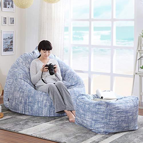 XUE Bean Bag Chaise, Transat canapé créatif Simple Balcon Chambre Paresseux Tatami Loisirs extérieur et intérieur Adulte Gaming Jardin siège Chaise Sol