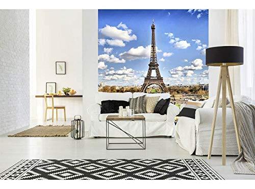 Vlies Fotobehang PARIJS | Niet-Geweven Foto Mural | Wall Mural - Behang - Reusachtige Wandposter | Premium Kwaliteit - Gemaakt in de EU | 225 cm x 250 cm