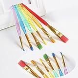 LINL 6pcs Conjunto de Colores Pincel de Acuarela de Nylon del Artista del Pelo Cepillo de los niños Estudiantes de papelería Material de Bellas Artes
