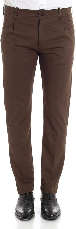 FORTELA Men's 00148BROWN Brown Cotton Pants