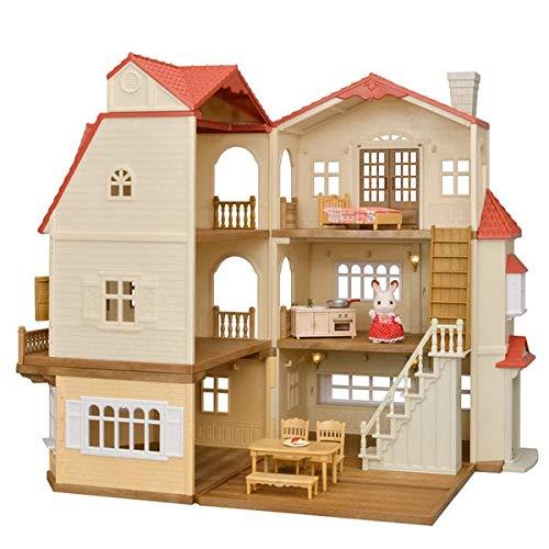 SYLVANIAN FAMILIES Sylvanian Les Maisons Coffret La Grande Maison Éclairée Et Le Cosy Cottage du Village