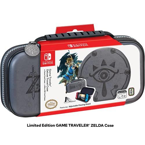 RDS Industries, Inc Nintendo Switch Game Traveler Deluxe Travel Case- Zelda Breath of the Wild - Sheikah Eye - Grey