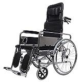 SUN RNPP Accessoires pour fauteuils roulants et scooters électriques Fauteuil Roulant Les Repose-Pieds en Acier légers médicaux de Transport d'oscillation Loin de Transport Se plient avec la Toilette