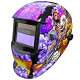 Leopard Large View, Solar & Battery Powered, DIN9~13 Shade, <span class='highlight'>Auto</span> Darking   Grinding Function <span class='highlight'>Welding</span> Helmet {Joker Mask Safety Gear