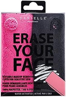 Danielle Erase Your Face Reusable Makeup RemovingCloths, 2-Pack, 2 Count, Pink/Black, 2 Count
