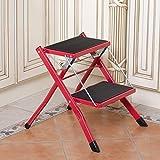 Plegable Taburete de Paso de Escalera Taburete con Robusta y Ancha Escalera Pedal de Acero for la fotografía, Hogar, fácil de almacenar (Color : C)