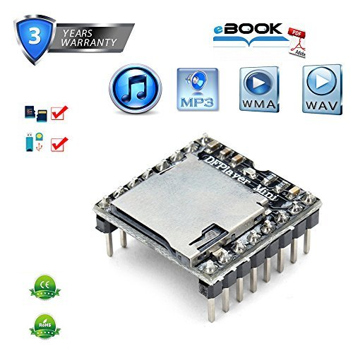 Dfplayer Mini, MP3-Player-Modul für Arduino UNO Modulo Musica Audio Voice Board Schild TF Karte U Disk