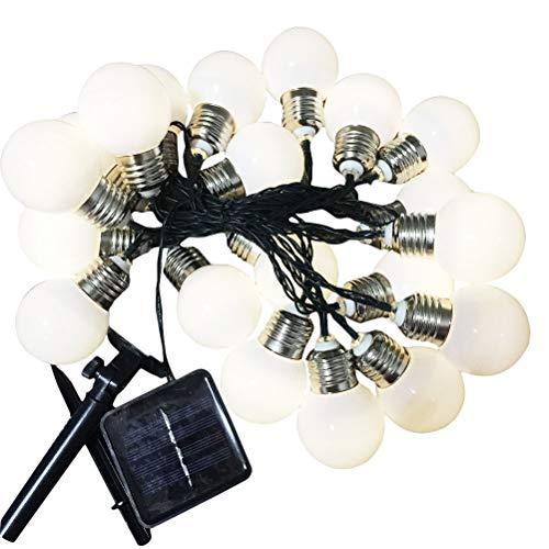 20 lâmpadas LED vintage operadas por bateria LED cordão de decoração para festa de Natal guirlanda de Ano Novo (lâmpadas brancas leitosas)