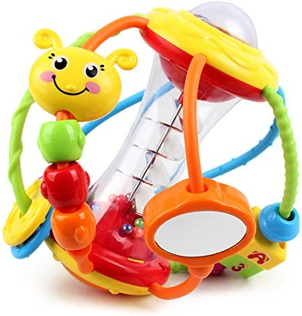 Yiosion Baby Rattle Set Healthy Activity Ball Shaker Grab Spin Rattle Early Educational Learning product image