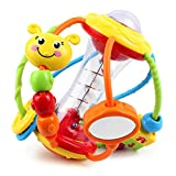 Yiosion Baby Rattle Set Healthy Activity Ball Shaker Grab Spin Rattle Early Educational Learning Sensory Toy Gifts for 3 6 9 12 Months Baby Infant Newborn