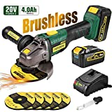 Cordless Angle Grinder, POPOMAN 20V MAX Brushless Cut-off Tool/Grinder with...
