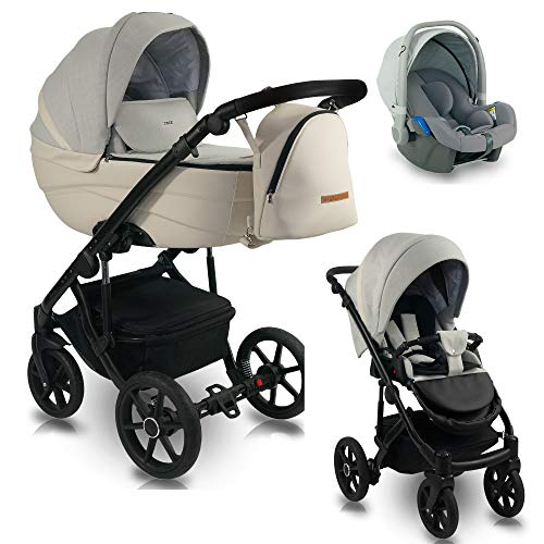 3 en 1 Isofix 2 en 1 Buggy Ideal 2020 de Lux4Kids Sand Storm ID 07 Silla de auto 4 en 1 + ISOFIX