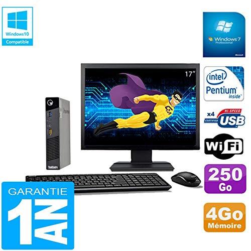 Lenovo Ultra Mini PC M73 USFF Tiny G3250T 4GB Scheibe 250GB WiFi W7 Bildschirm 17