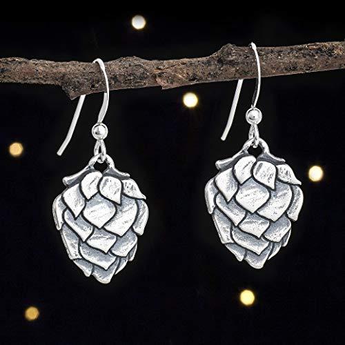 Sterling Silver Hop Flower Earrings