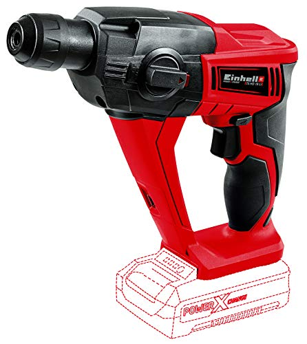 Einhell Marteau-perforateur sans fil sur batterie TE-HD 18 Li - Solo Power X-Change (18 V,Couple maximum 9,9 Nm, Eclairage LED) VERSION SOLO, LIVRE SANS BATTERIE NI CHARGEUR