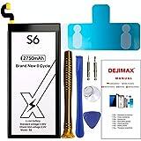 DEJIMAX S6 Batería, Batería de Alta Capacidad de 2750 mah para Samsung Galaxy S6 / EB-BG920ABE /G9200 /G9208 /G9209 /G920F /G920P /G920T /G920L /G920V, Batería de Repuesto con Kit de Reparación