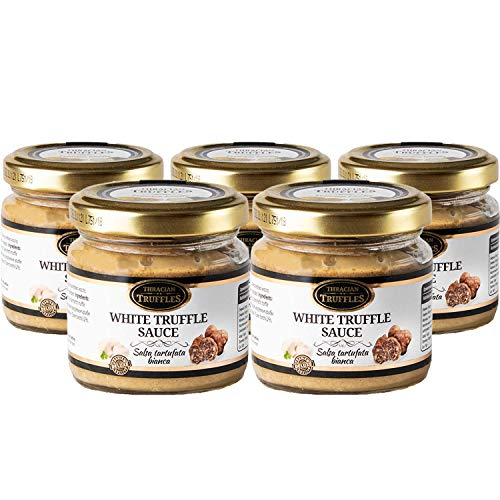 White truffle sauce Witte truffelsaus Tuber borchi Luxe Gourmet voedselsaus Pasta, ideaal voor vlees, gegrild brood, omeletten, pasta, risotto, sushi 5 x 170g