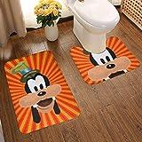 Lindsay Gosse Juego de alfombras de baño de 2 Piezas Mentecato Alfombras De Baño, Juegos De Contorno para Bañera, Ducha Y Baño
