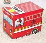 XXCKA Caja de almacenamiento para niños creativa de dibujos animados caja de almacenamiento de artículos del hogar taburete plegable caja de almacenamiento 40 x 25 x 31 cm