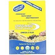 Organic Food Bar, Omega-3 Flax, 68 Gram Bars, (Pack of 12)