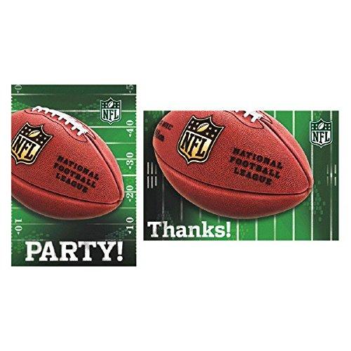 amscan NFL Einladung und Danke Karten