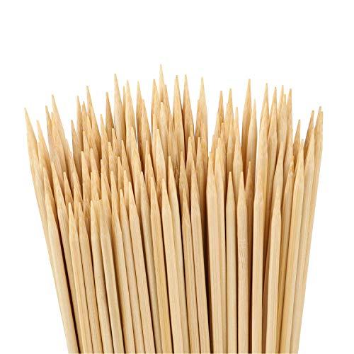 Easytle - Palillos de bambú natural para barbacoas, aperitivos, verduras, queso, fruta, maíz y más alimentos, 4 pulgadas, 200 unidades