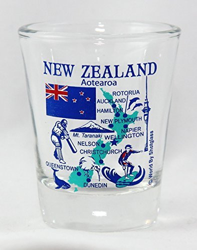New Zealand Landmarks and Icons Collage Shot Glass