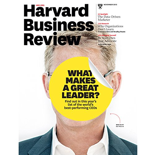 Harvard Business Review, November 2015 audiobook cover art