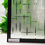 LMKJ Películas de Ventana Adhesivas estáticas Impermeables de privacidad 3D, película Decorativa de Vinilo de Control en Caliente para Ventana de Vidrio Anti-UV Pegatina B16 40x100cm