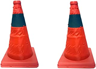 Collapsible Pop up Traffic Cone - Work Area Protection, Child Safety, Emergency, Roadside Safety (2 Pack)