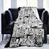 VANKINE Comfort Throw Blanket,Moomins in Love Comic Strip,Ultra Soft and Fluffy Plush Throw Blankets for Couch Bed and Living Room(60'x80')