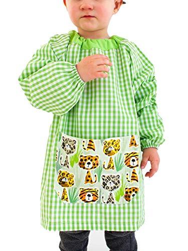 KLOTTZ - Baby-Kindergarderobe Tiger ohne Knöpfe, 7149-PONCHO-TIGRE-PISTACHO-2, Grün, 7149-PONCHO-TIGRE-PISTACHO-2 2
