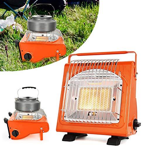 Mumaya Calentador de Gas portátil, Calentador de propano doméstico de Seguridad, Calentador de Gas Multifuncional, Estufa, Tienda de campaña para Pesca, calefacción para automóviles