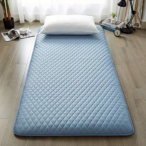 LXSHMF Thick Japanese Futon Mattress Topper Foldable Sleeping Pad Cushion Mat Tatami Floor Mat Japanese Bed Easy To Clean Rolls-up Double Single Mattress B 150x190cm(59x75inch)
