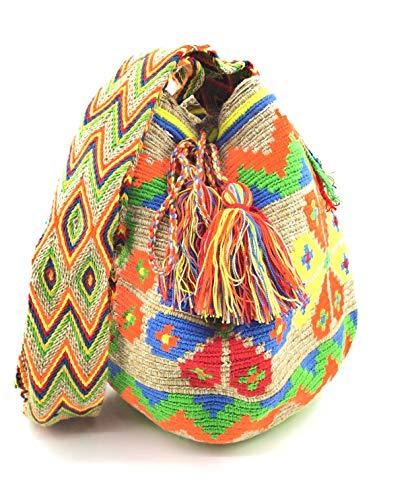 COLOMBIAN STYLE Bolsos Colombianos Artesanales de estampados unicos, mochila Wayuu tanto para mujer como para hombre.