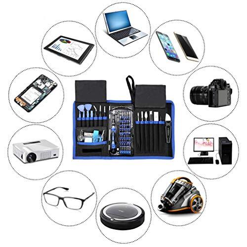 WNTHBJ Multifunctionele Schroevendraaier, 80-in-1 Handmatige Combinatie Tool Kit, Mobiele Computer Reparatie Dagelijks Huishouden, Geïsoleerde Handgreep