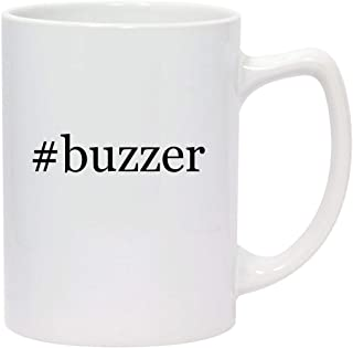 #buzzer - 14oz Hashtag White Ceramic Statesman Coffee Mug