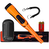 Pinpoint Handheld Metal Detector pinpointer - Metal detectors for Adults and Kids Include a 9V Battery and a Belt Holster Orange
