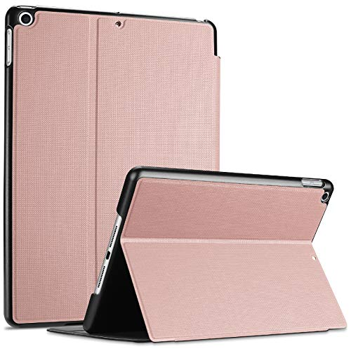 ProCase iPad 10.2 Case 2020 2019 (7th 8th Generation), Shockproof Lightweight Slim Protective Book Case Folio Cover, for iPad 7 / iPad 8 -Rosegold