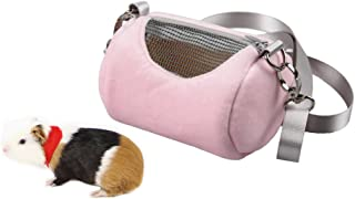 Mummumi Small Pet Outside Bag Pet Hamster Carrier Bag Breathable Portable Outgoing Travel Handbags Backpack with Shoulder Strap for Small Pets Hedgehog Sugar Glider Squirrel