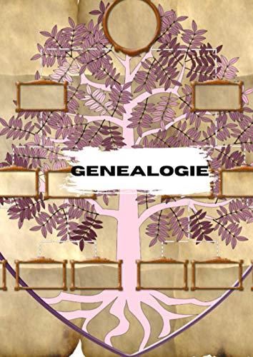 Généalogie | Couverture arbre| Journal de 155 pages |format A4 | Ideal pour vous aider dans le cadre de vos recherches sur vos ancêtres | Explication ... en généalogie ce carnet est fait pour vous !